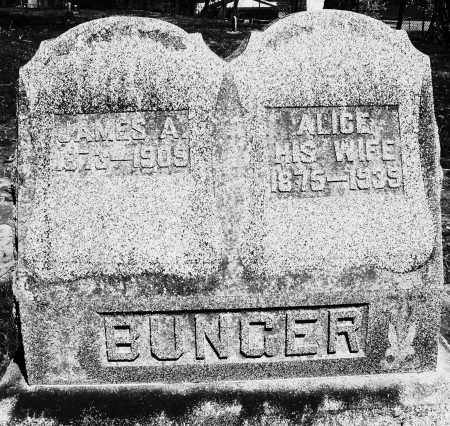 BUNGER, ALICE - Preble County, Ohio | ALICE BUNGER - Ohio Gravestone Photos