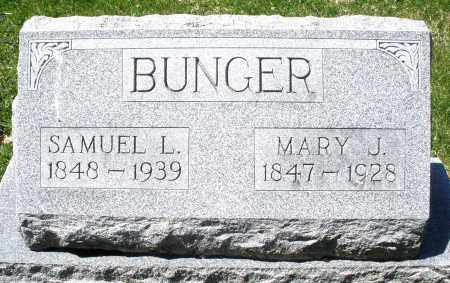 BUNGER, MARY J. - Preble County, Ohio | MARY J. BUNGER - Ohio Gravestone Photos