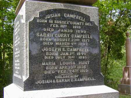 CAMPBELL, JOSIAH - Preble County, Ohio | JOSIAH CAMPBELL - Ohio Gravestone Photos