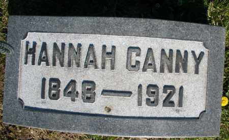 CANNY, HANNAH - Preble County, Ohio | HANNAH CANNY - Ohio Gravestone Photos