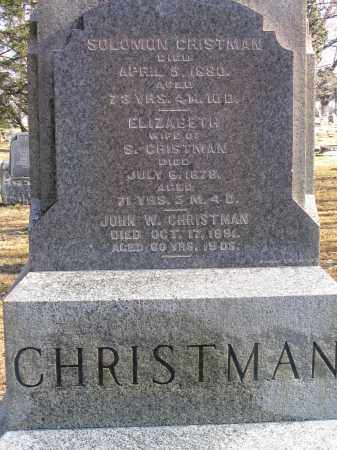 CHRISTMAN, SOLOMAN - Preble County, Ohio | SOLOMAN CHRISTMAN - Ohio Gravestone Photos