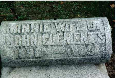 CLEMENTS, MINNIE - Preble County, Ohio | MINNIE CLEMENTS - Ohio Gravestone Photos