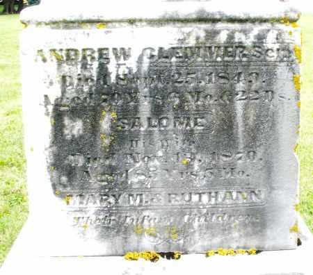 CLEMMER, SALOME - Preble County, Ohio | SALOME CLEMMER - Ohio Gravestone Photos