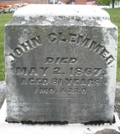 CLEMMER, JOHN - Preble County, Ohio | JOHN CLEMMER - Ohio Gravestone Photos