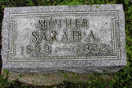CONGER, SARAH A. - Preble County, Ohio | SARAH A. CONGER - Ohio Gravestone Photos