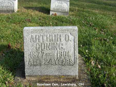 CONING, ARTHUR - Preble County, Ohio | ARTHUR CONING - Ohio Gravestone Photos