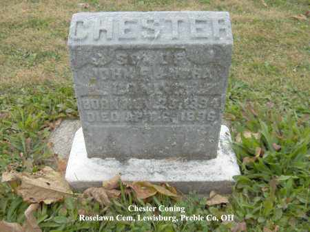 CONING, CHESTER - Preble County, Ohio | CHESTER CONING - Ohio Gravestone Photos
