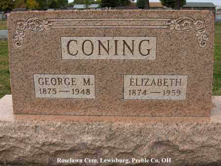 CONING, ELIZABETH - Preble County, Ohio | ELIZABETH CONING - Ohio Gravestone Photos