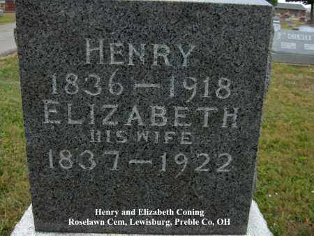 CONING, HENRY - Preble County, Ohio | HENRY CONING - Ohio Gravestone Photos