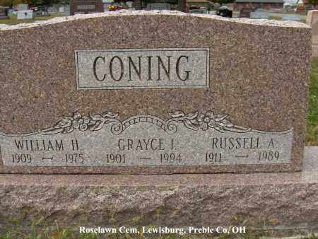 CONING, WILLIAM - Preble County, Ohio | WILLIAM CONING - Ohio Gravestone Photos