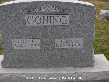 CONING, JULIA - Preble County, Ohio | JULIA CONING - Ohio Gravestone Photos