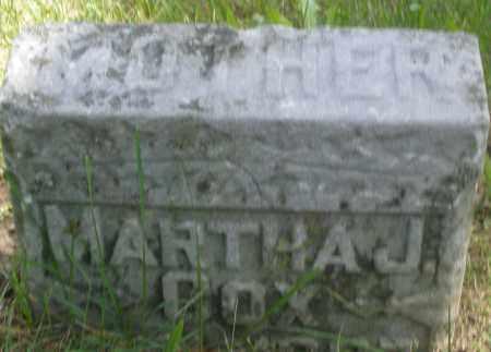 COX, MARTHA J. - Preble County, Ohio | MARTHA J. COX - Ohio Gravestone Photos