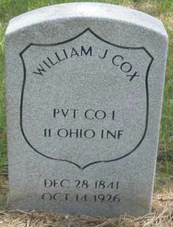 COX, WILLIAM J. - Preble County, Ohio | WILLIAM J. COX - Ohio Gravestone Photos