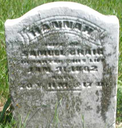 CRAIG, HANNAH - Preble County, Ohio | HANNAH CRAIG - Ohio Gravestone Photos