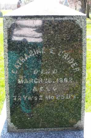 CRIDER, CATHARINE - Preble County, Ohio | CATHARINE CRIDER - Ohio Gravestone Photos