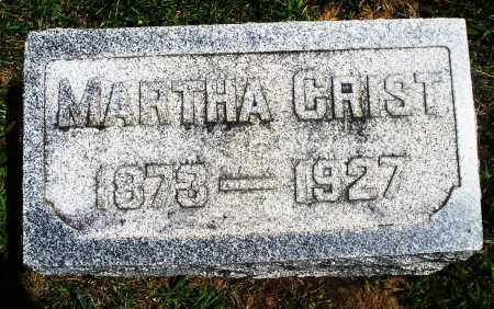 CRIST, MARTHA - Preble County, Ohio | MARTHA CRIST - Ohio Gravestone Photos