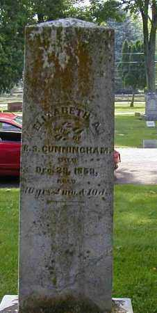 CUNNINGHAM, ELIZABETH A. - Preble County, Ohio | ELIZABETH A. CUNNINGHAM - Ohio Gravestone Photos