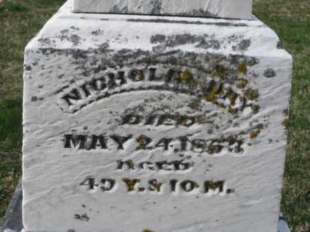 DAY, NICHOLAS - Preble County, Ohio   NICHOLAS DAY - Ohio Gravestone Photos
