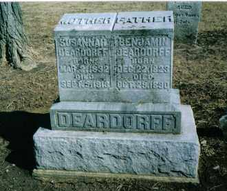 DEARDORFF, SUSANNAH - Preble County, Ohio | SUSANNAH DEARDORFF - Ohio Gravestone Photos