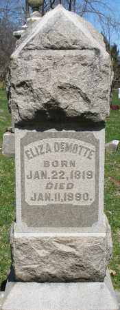DEMOTTE, ELIZA - Preble County, Ohio | ELIZA DEMOTTE - Ohio Gravestone Photos