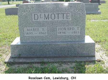 DEMOTTE, HOWARD - Preble County, Ohio | HOWARD DEMOTTE - Ohio Gravestone Photos