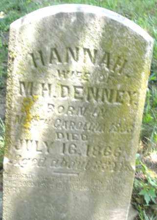 DENNEY, HANNAH - Preble County, Ohio | HANNAH DENNEY - Ohio Gravestone Photos