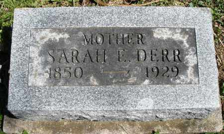 DERR, SARAH E. - Preble County, Ohio | SARAH E. DERR - Ohio Gravestone Photos