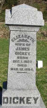 DICKEY, ELIZABETH - Preble County, Ohio | ELIZABETH DICKEY - Ohio Gravestone Photos