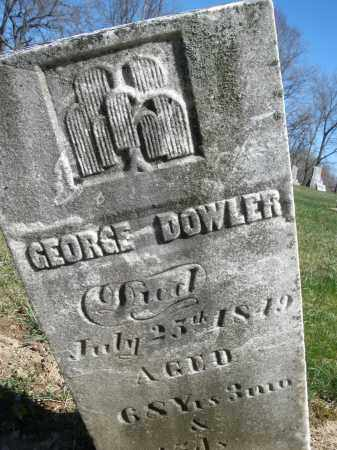 DOWLER, GEORGE - Preble County, Ohio | GEORGE DOWLER - Ohio Gravestone Photos