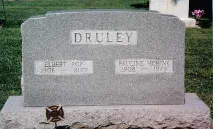 HORINE DRULEY, PAULINE - Preble County, Ohio | PAULINE HORINE DRULEY - Ohio Gravestone Photos