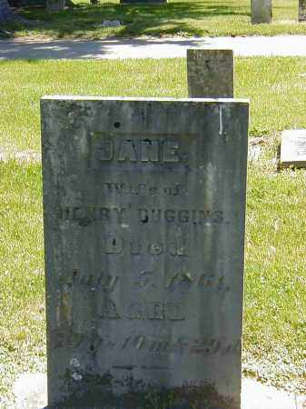 DUGGINS, JANE - Preble County, Ohio | JANE DUGGINS - Ohio Gravestone Photos
