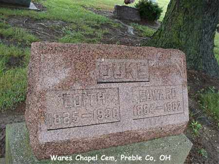 DUKE, EDWARD - Preble County, Ohio | EDWARD DUKE - Ohio Gravestone Photos