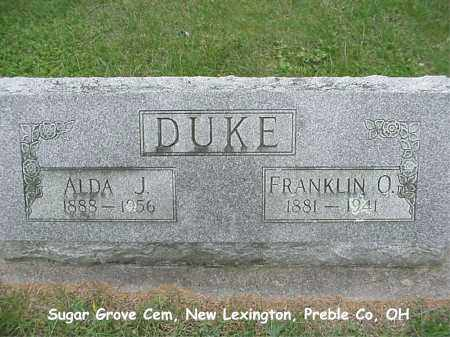 DUKE, FRANKLIN - Preble County, Ohio | FRANKLIN DUKE - Ohio Gravestone Photos
