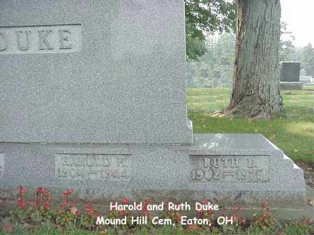 DUKE, HAROLD - Preble County, Ohio | HAROLD DUKE - Ohio Gravestone Photos