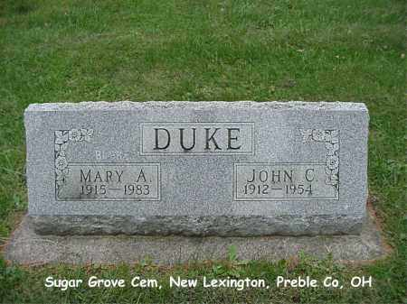 DUKE, MARY - Preble County, Ohio | MARY DUKE - Ohio Gravestone Photos