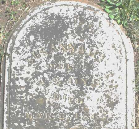 DYE ?, SUSANNAH - Preble County, Ohio | SUSANNAH DYE ? - Ohio Gravestone Photos