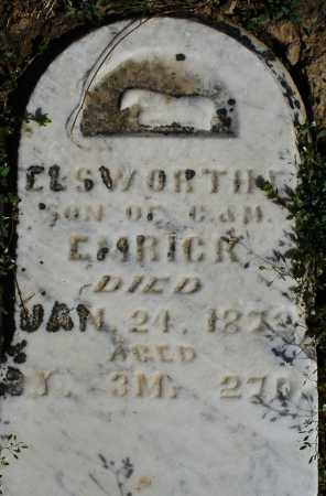 EMRICK, ELSWORTH - Preble County, Ohio | ELSWORTH EMRICK - Ohio Gravestone Photos