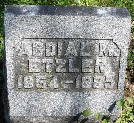 ETZLER, ABDIAL M. - Preble County, Ohio | ABDIAL M. ETZLER - Ohio Gravestone Photos