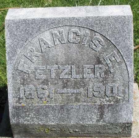ETZLER, FRANCIS E. - Preble County, Ohio | FRANCIS E. ETZLER - Ohio Gravestone Photos
