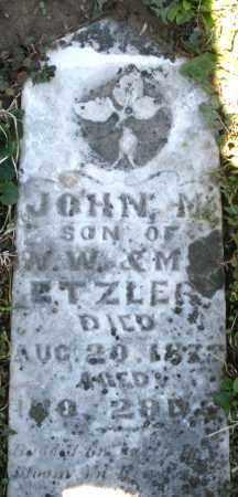 ETZLER, JOHN M. - Preble County, Ohio | JOHN M. ETZLER - Ohio Gravestone Photos