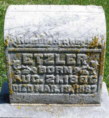 ETZLER, NELLIE - Preble County, Ohio | NELLIE ETZLER - Ohio Gravestone Photos