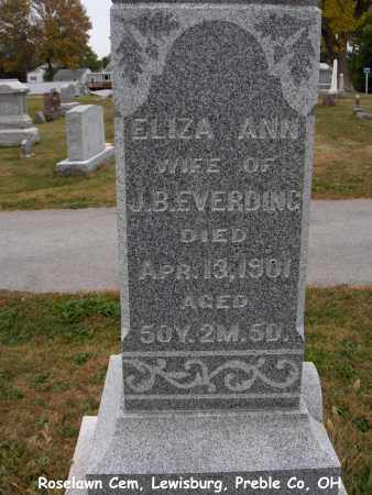 EVERDING, ELIZA - Preble County, Ohio | ELIZA EVERDING - Ohio Gravestone Photos