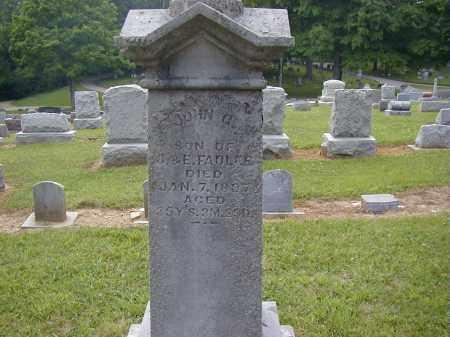 FADLER, JOHN O. - Preble County, Ohio   JOHN O. FADLER - Ohio Gravestone Photos