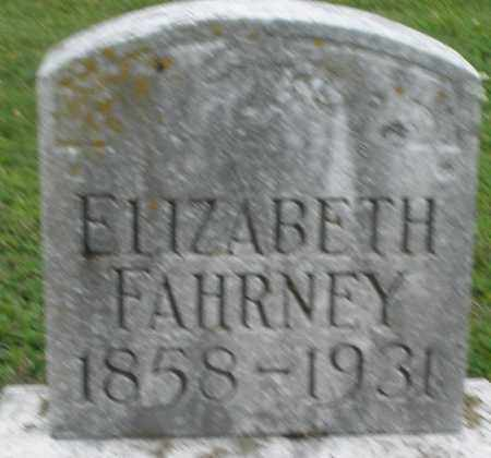 FAHRNEY, ELIZABETH - Preble County, Ohio | ELIZABETH FAHRNEY - Ohio Gravestone Photos