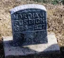 FOSDICK, MARTHA J. - Preble County, Ohio | MARTHA J. FOSDICK - Ohio Gravestone Photos