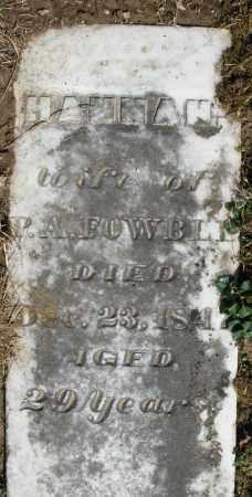 FOWBLE, HANNAH - Preble County, Ohio | HANNAH FOWBLE - Ohio Gravestone Photos