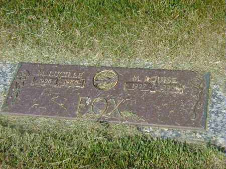 FOX, M. LOUISE - Preble County, Ohio | M. LOUISE FOX - Ohio Gravestone Photos