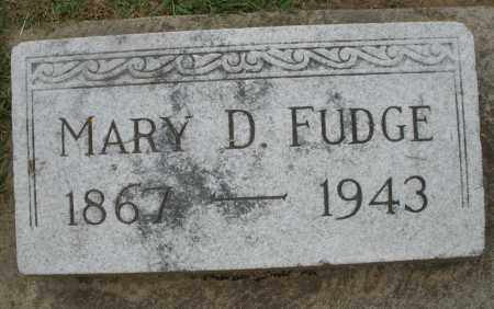 FUDGE, MARY D. - Preble County, Ohio | MARY D. FUDGE - Ohio Gravestone Photos