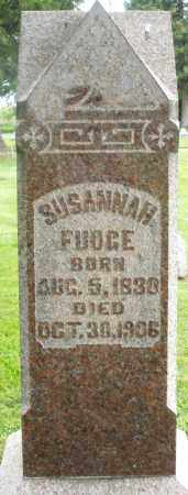 FUDGE, SUSANNAH - Preble County, Ohio | SUSANNAH FUDGE - Ohio Gravestone Photos