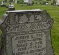 FYE, MARY - Preble County, Ohio | MARY FYE - Ohio Gravestone Photos